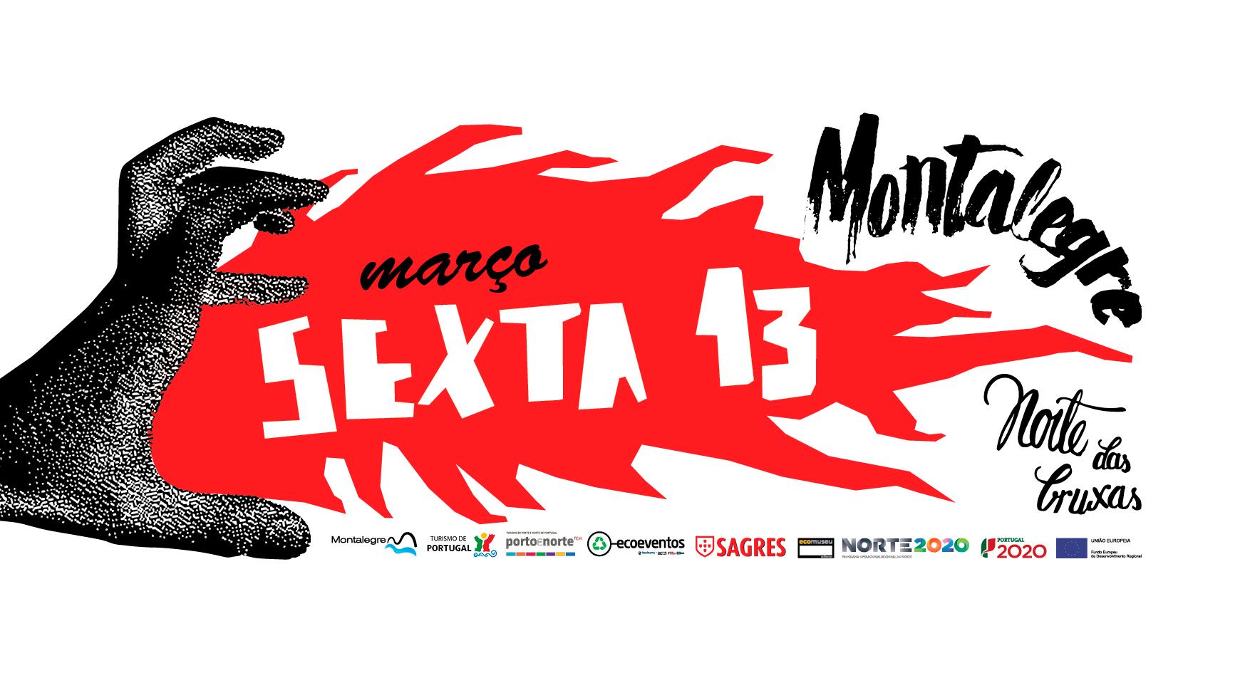 Cartaz sobre o evento Sexta 13 em Montalegre.